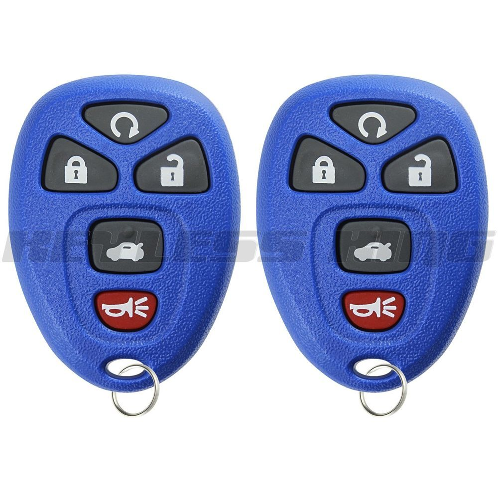 2 new blue remote start keyless entry key fob transmitter clicker for 22733524