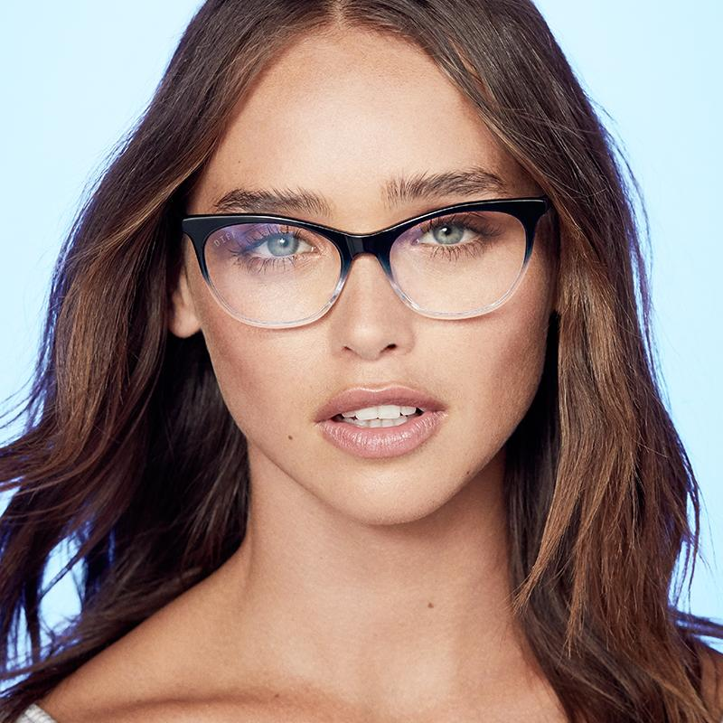 Jade navy ombre blue light technology clear glasses