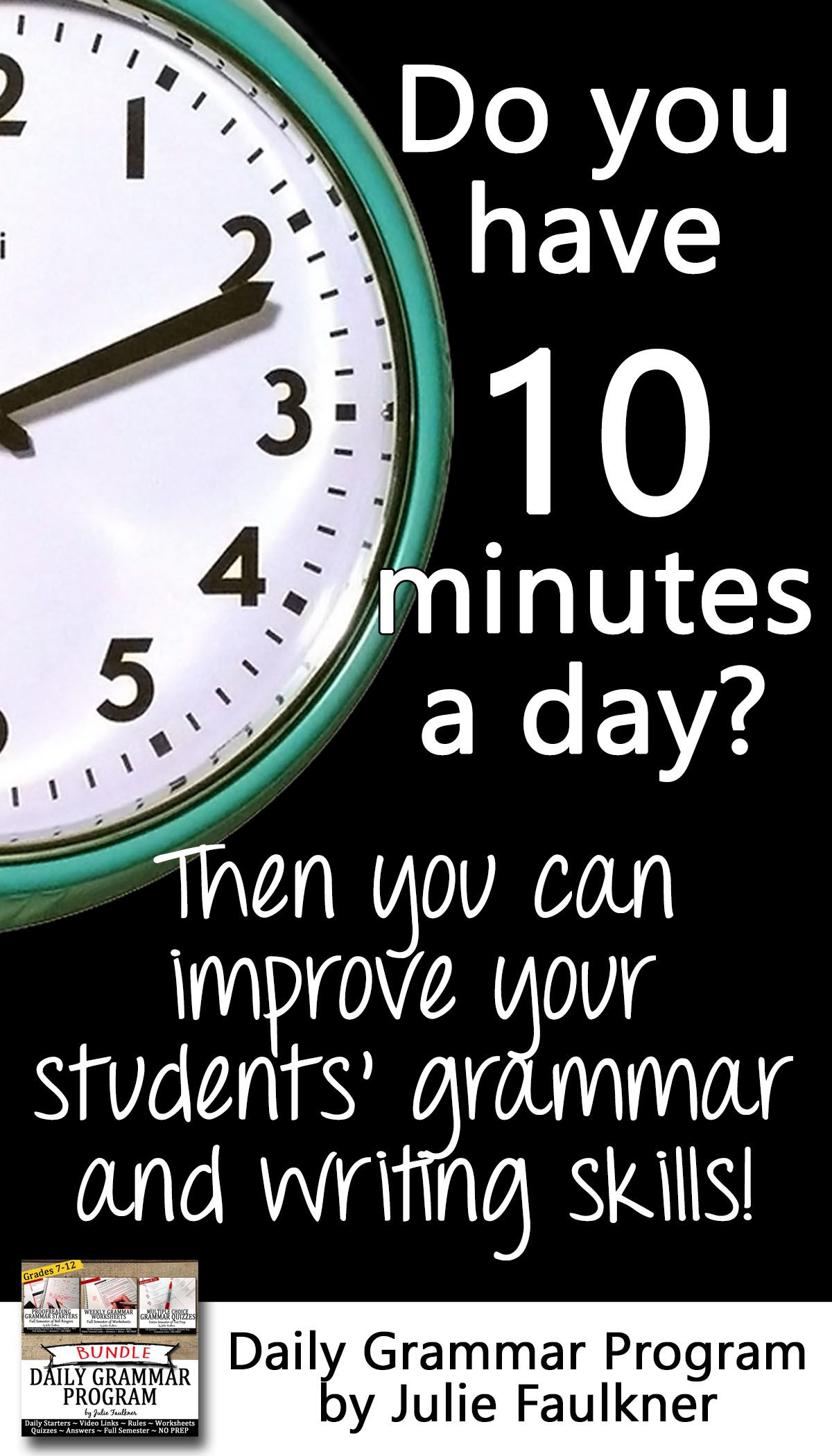 Grammar Set 1 Bundle Ten Minute Daily Act Prep 18 Weeks