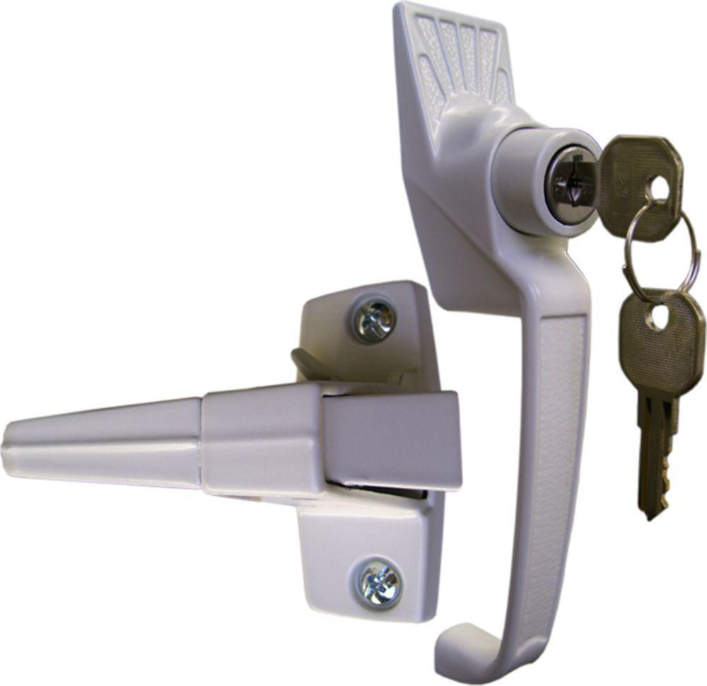 White Keyed Pushbutton Lock Door Lock Security Smart Door Locks Pushbutton