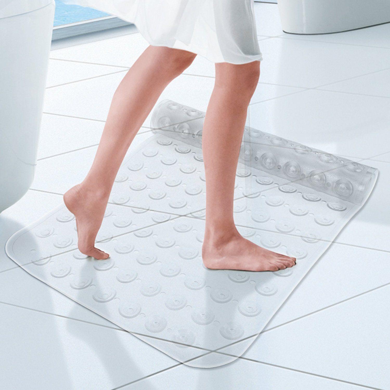 ANCHEER Soft Non-slip Safety Bath Mat Antibacterial Bath Tub Shower ...