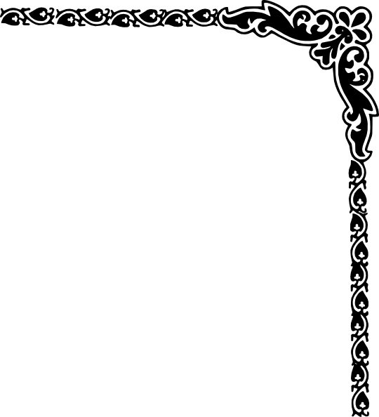 Fancy borders clip art vine corner border design