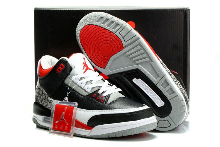 lowest price afa44 bd457 Air Jordan 3 Retro Black Varsity Red Cement Grey , Price   89.96 - Air  Jordan Shoes, Michael Jordan Shoes