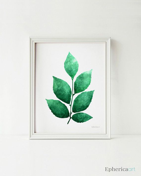 Printable Wall Decor Pinterest : Leaves art botanical wall print plants decor