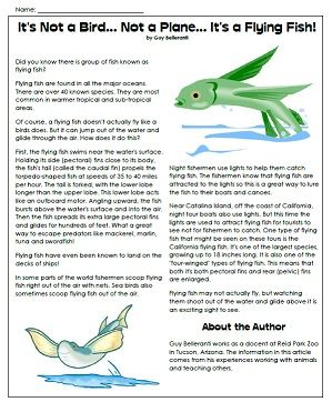 Printable Animal Article Super Teacher Worksheets Fish Activities Animal Articles