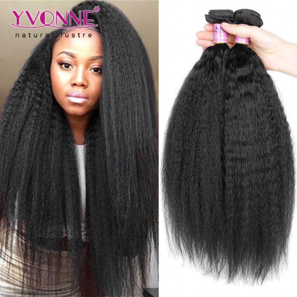 Yvonne Brazilian Hair Kinky Straight Weave3pcslot Top Quality