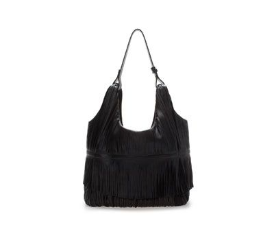 ZARA - WOMAN - LEATHER BUCKET BAG WITH FRINGES