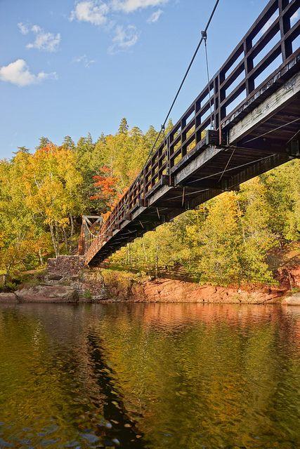 Black River Harbor Suspension Bridge Michigan Travel