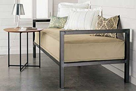 Home Life Iron Platform Day Bed, Twin, Silver