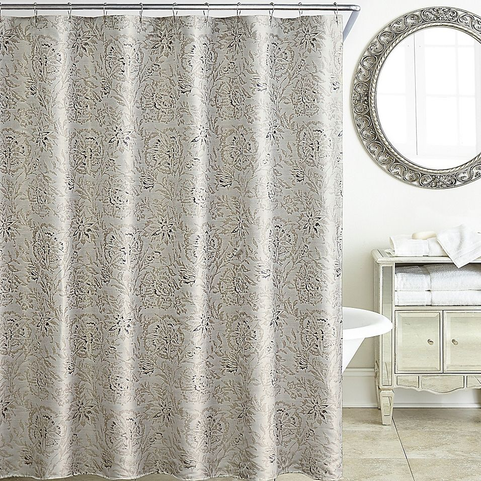 Waterford Sophia 72 Inch X 72 Inch Shower Curtain In Platinum
