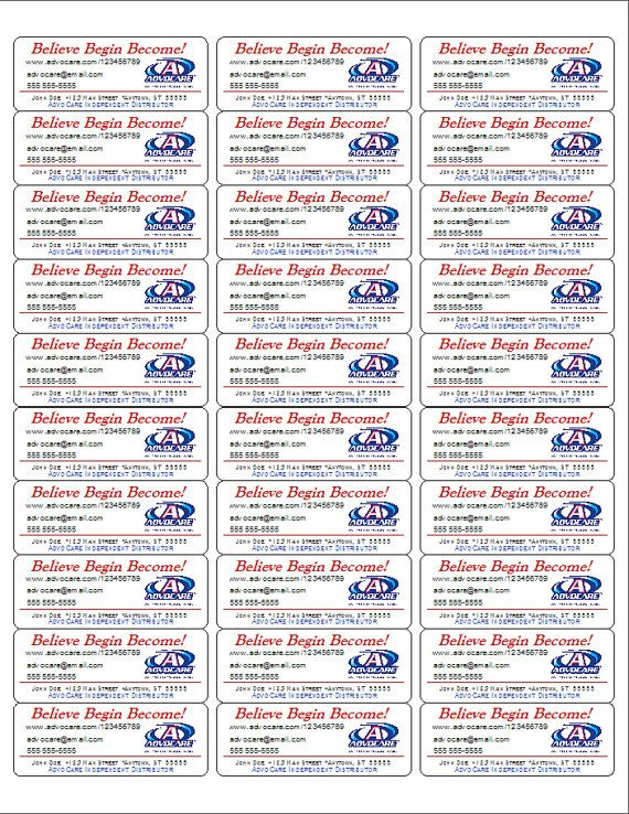Advocare ProductBrochureSample Labels Pdf By Erbesproductions