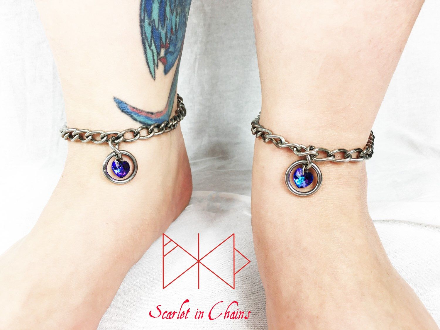 stainless jewelry bdsm pretty anklet locking oblacoder slave with steel
