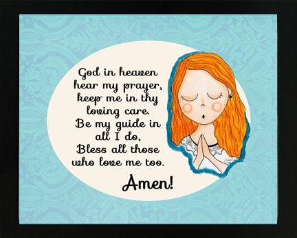 God hear my prayer. Children\'s prayer for protection ...