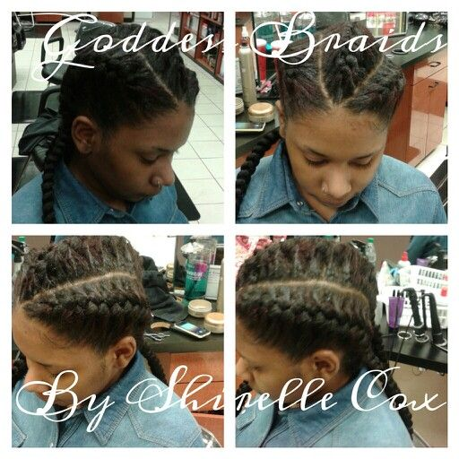 Magnificent Three Goddess Braids Straight Back Different Hairstyles Hairstyle Inspiration Daily Dogsangcom