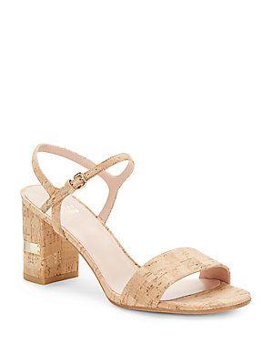 910a04fe597 Solo Cork Block Heel Sandals