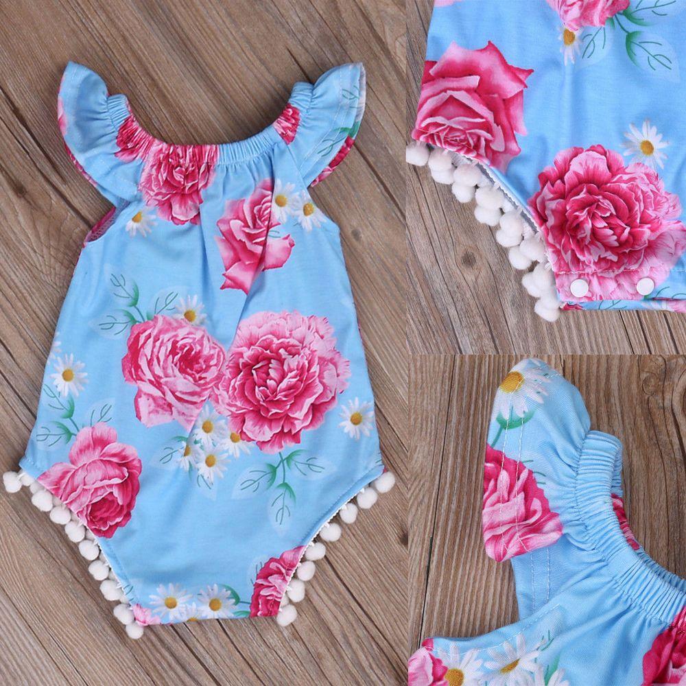 ef5de528164 UK Stock Newborn Baby Girl Bodysuit Kids Romper Jumpsuit Outfits Sunsuit  Clothes