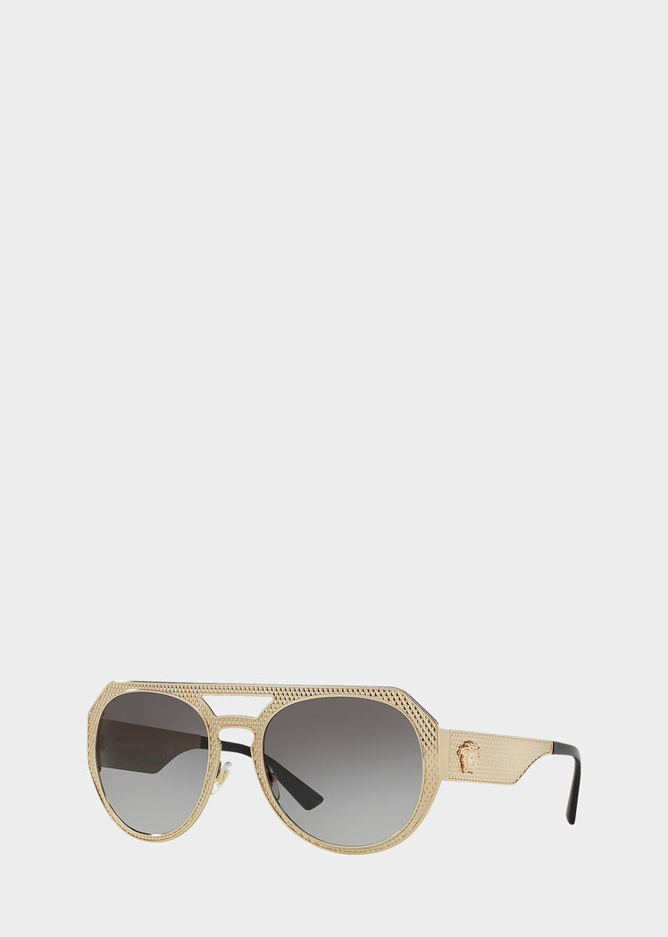 fd1287b110 PALE GOLD AVIATOR SUNGLASSES from Versace Women s Collection. Aviator-style  sunglasses