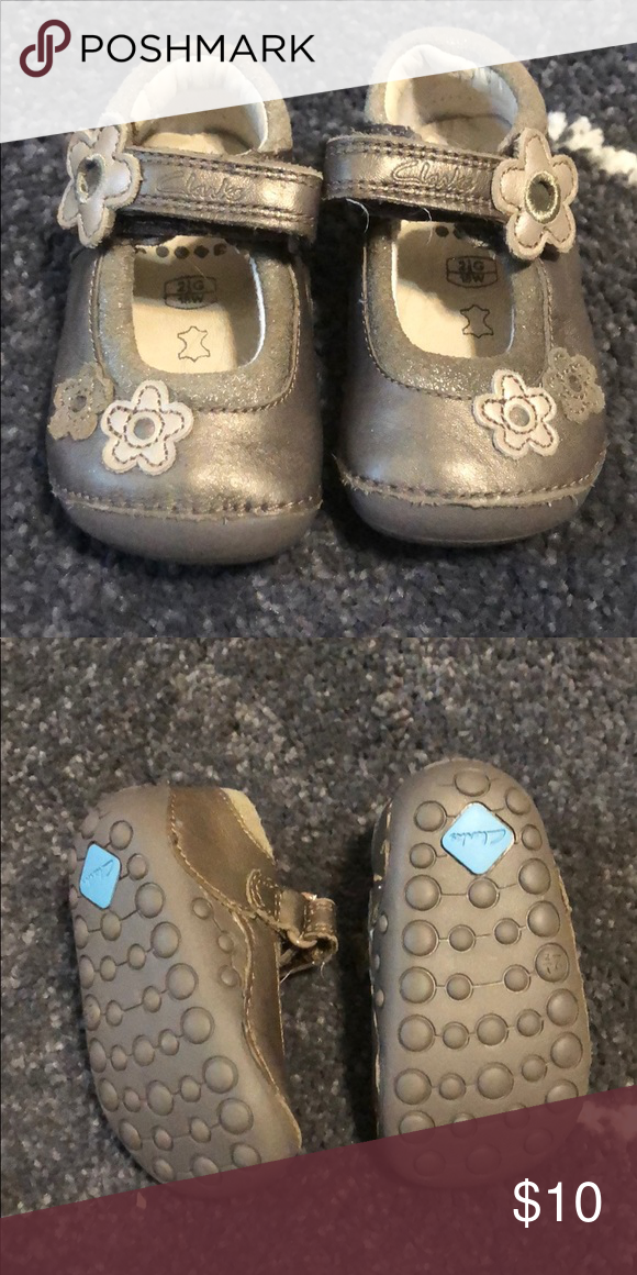 Clarks First Shoes Size 2. Worn once