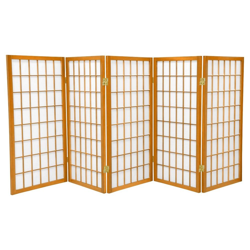 ft tall window pane shoji screen honey panels oriental