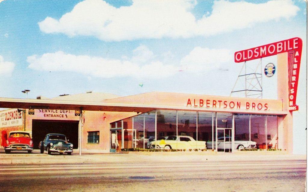 Albertson Bros Oldsmobile Culver City Ca 1954 Oldsmobile Dealership Culver City