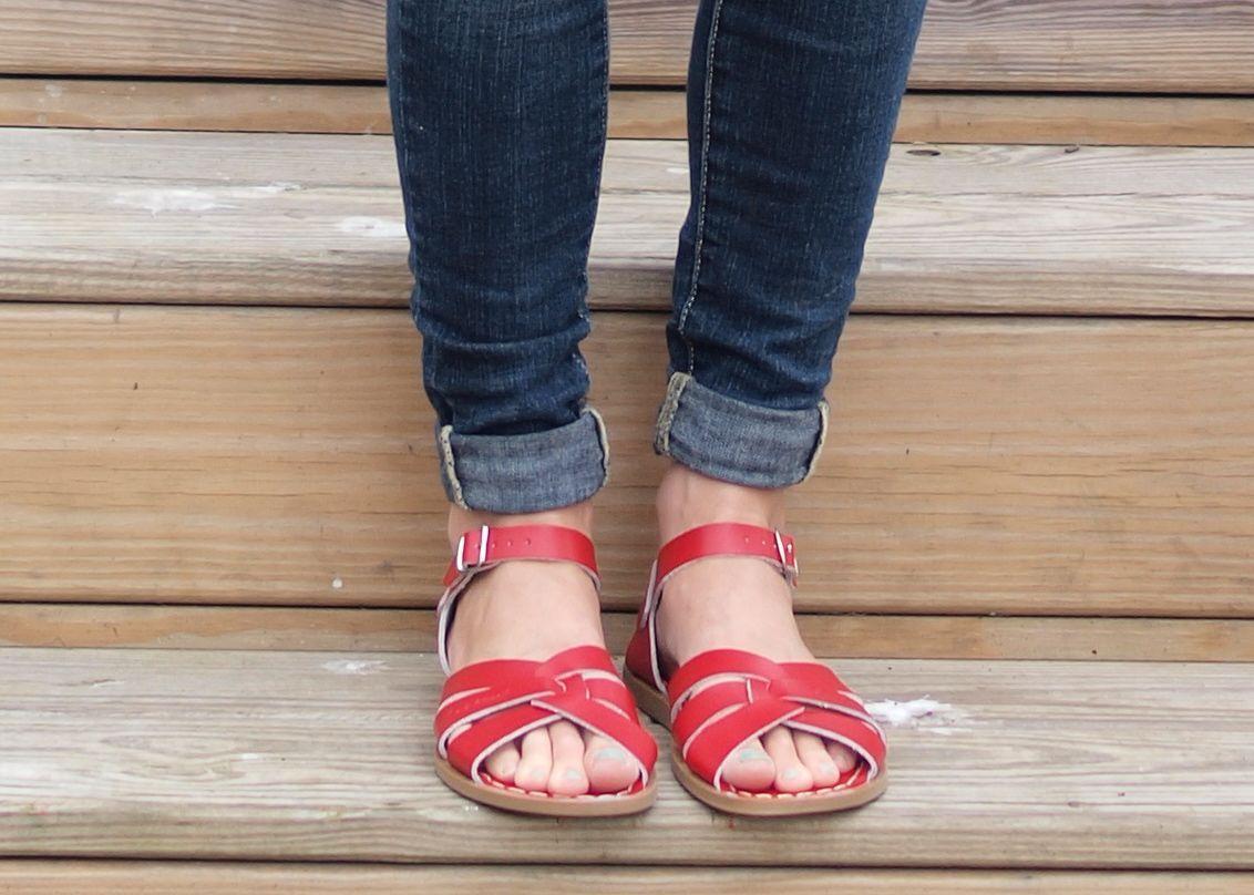 Women's Red Saltwater Sandals - get