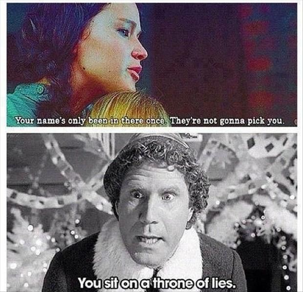 Funniest Movie Quotes One Liners Interesting Hunger Games Elf Funny Movie One Liners Hunger Games Pinterest