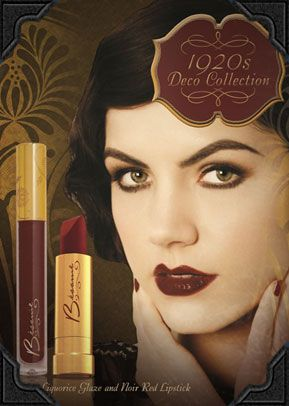 New Besame Black Liquorice Lip Glaze - part of their 1920's Deco collection designed in collaboration with Warner Bros The Great Gatsby