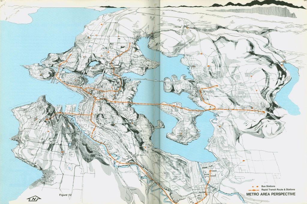 Seattle light rail planning map 1970 usa transit pinterest seattle light rail planning map 1970 usa publicscrutiny Images