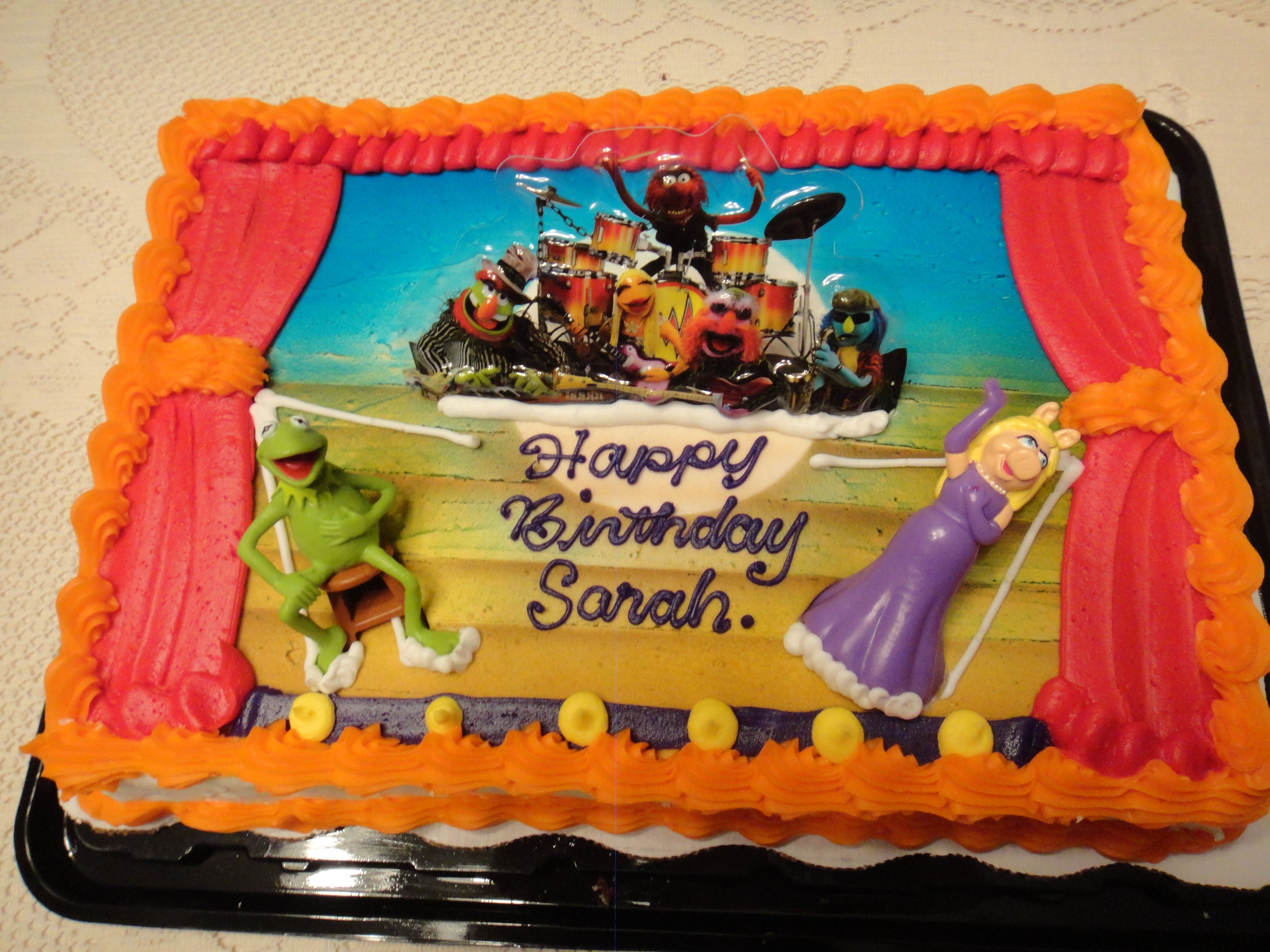 Excellent Muppets Birthday Cake From Walmart Elmo Birthday Cake Luau Personalised Birthday Cards Veneteletsinfo