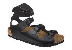 Athens by Birkenstock       $130  Black Leather  Of all the interesting things, the ancient Greeks used cork in the footbeds of their shoes -- way long before Birkenstock was a glimmer in anyone's eyes! This gladiator style, however, was one of Birkenstock's first styles. It has endured much like the wisdom of the Greeks. The footbed on this style has way more support I'm willing to bet. It is also lightweight and has four places of adjustment. Like the Greek sandals, it can be resoled…