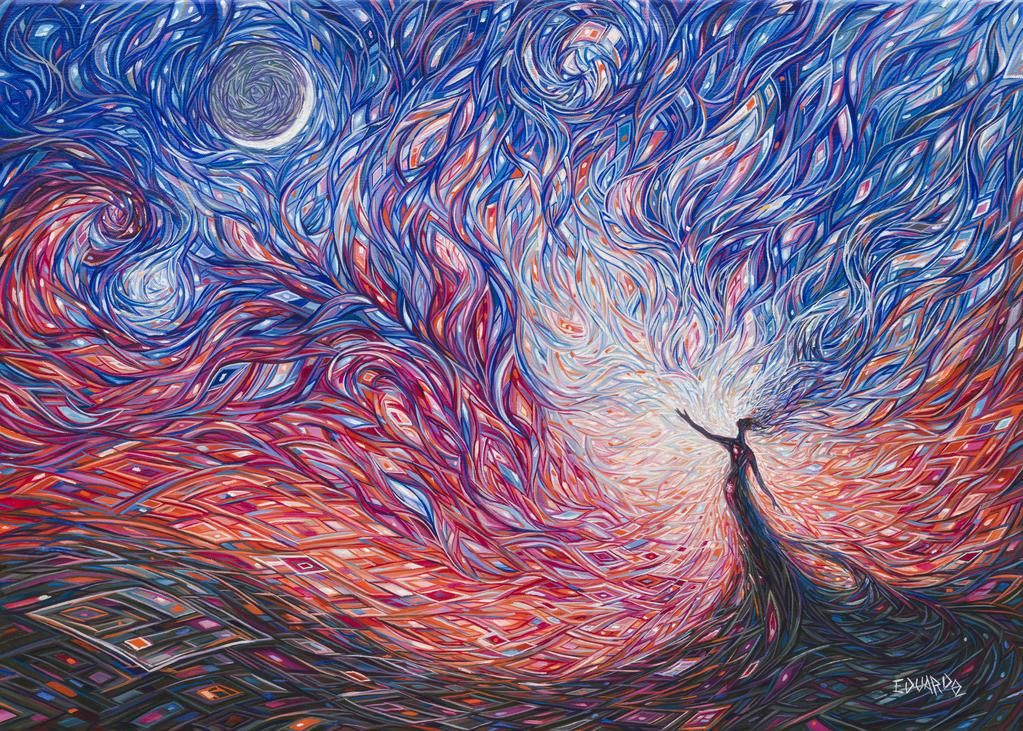 Child Of The Moon By Eddiecalz Art Moon Art Painting