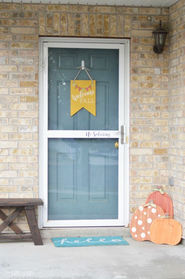 Create this Welcome Fall Front Door Decor to add to your front porch decor this…