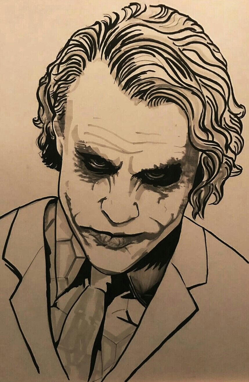 The Joker Heath Ledger Joker Art Drawing Joker Drawings Joker