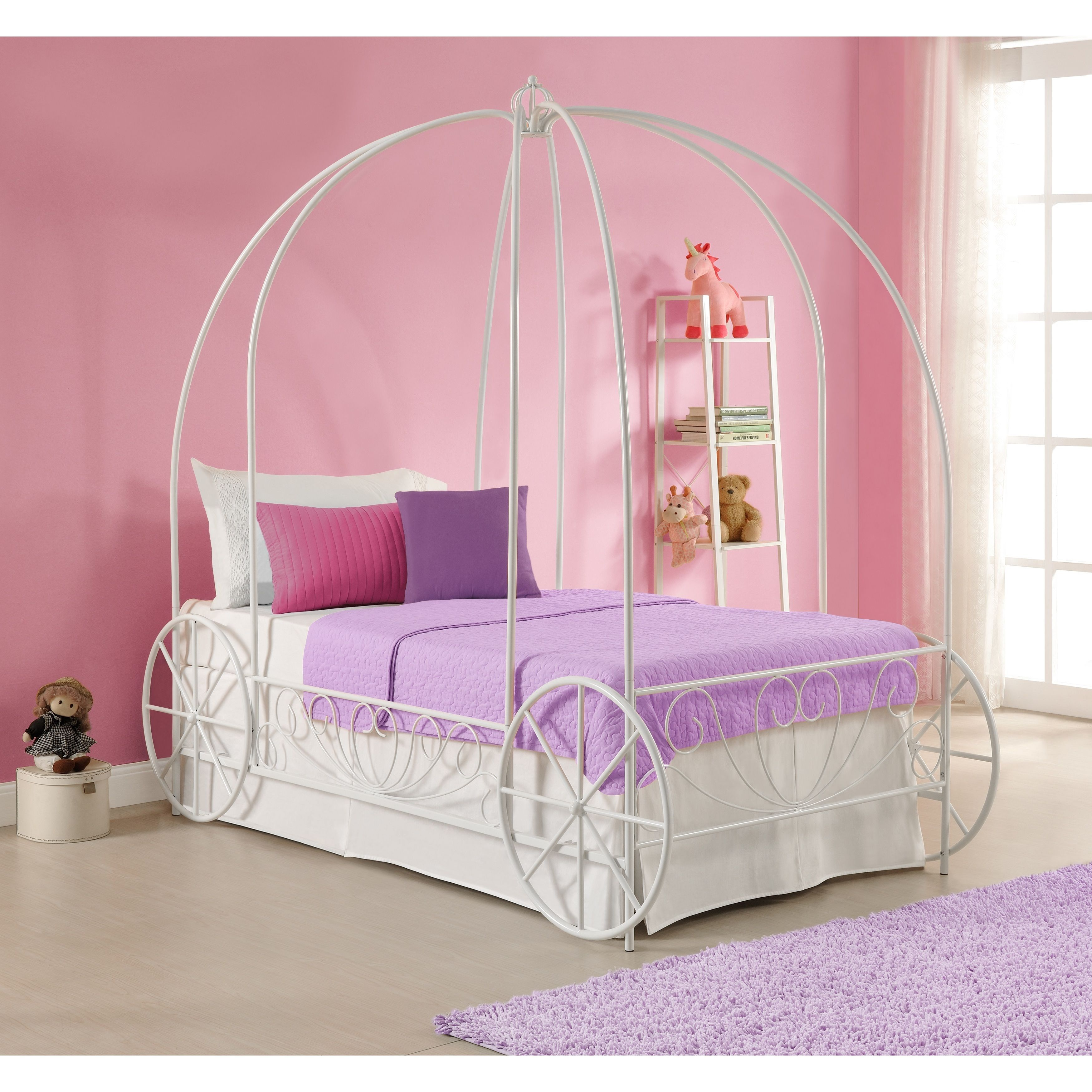 Dhp Princess Carriage Twin Metal Bed Carriage Bed Princess