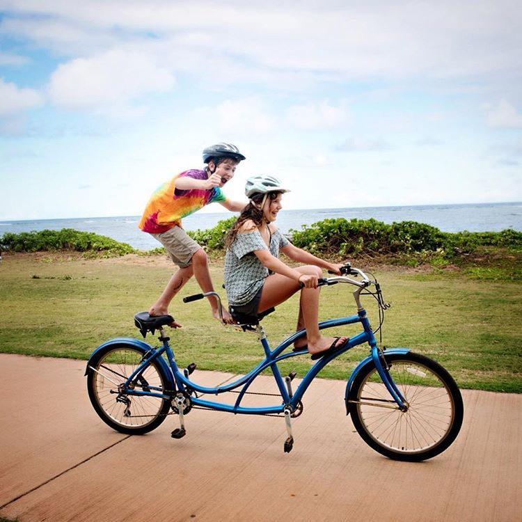 "Watching these two ""bicycling"" down the coast was an excellent ab workout…"