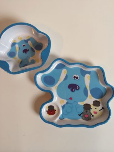 Blues Clues Childrens Plate And Bowl Set Plastic Paprika Salt Pepper Plates And Bowls Stuffed Peppers Bowl Set
