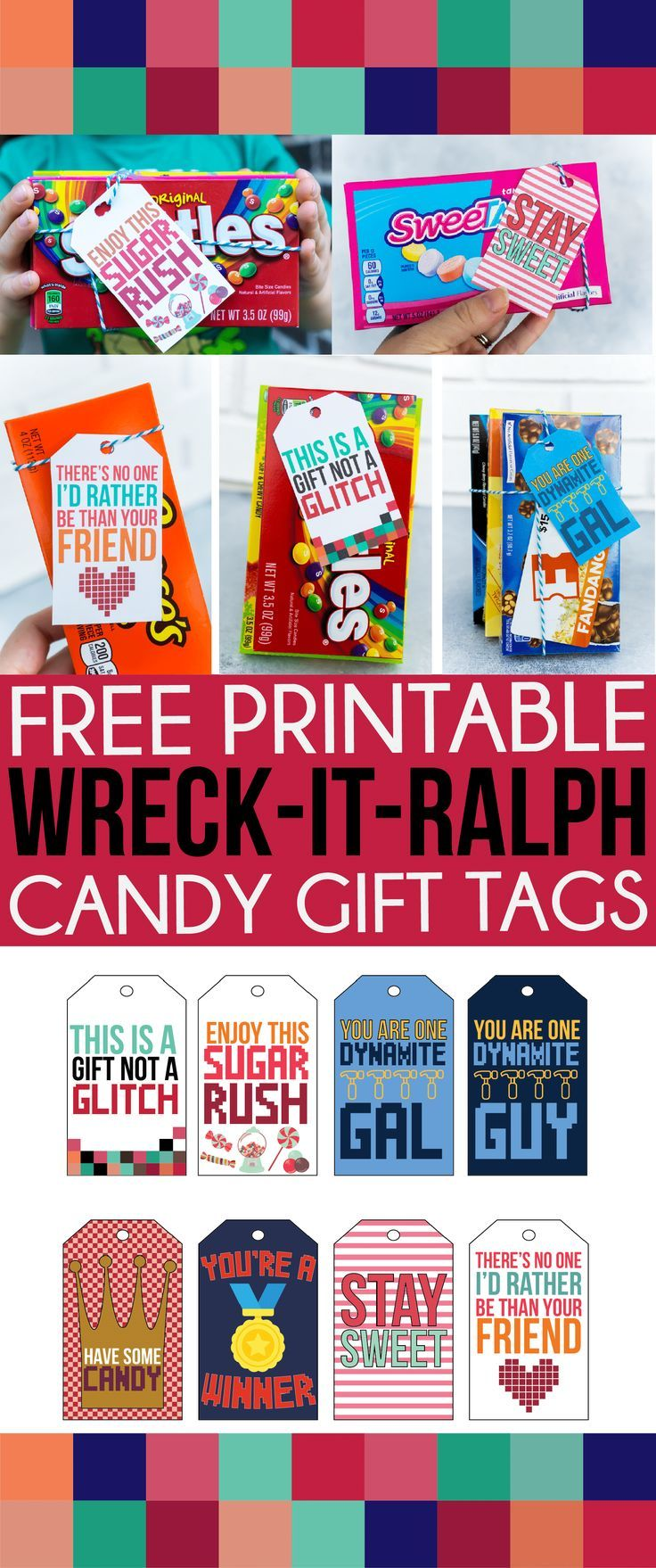 Free printable wreckitralph inspired gift tags diy
