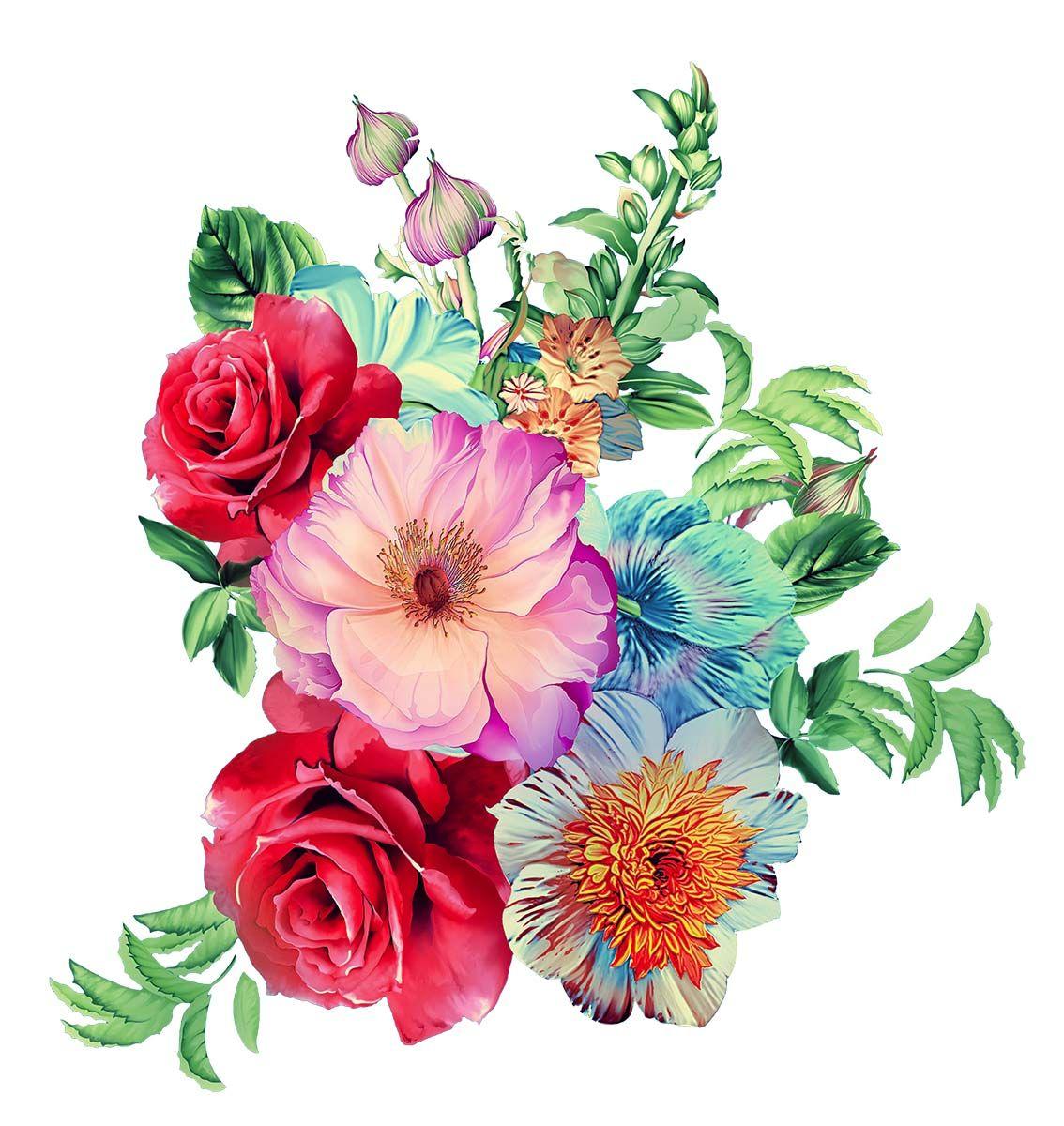 Png Flower Textile Design Digital Flowers Flower Png Images Botanical Flowers