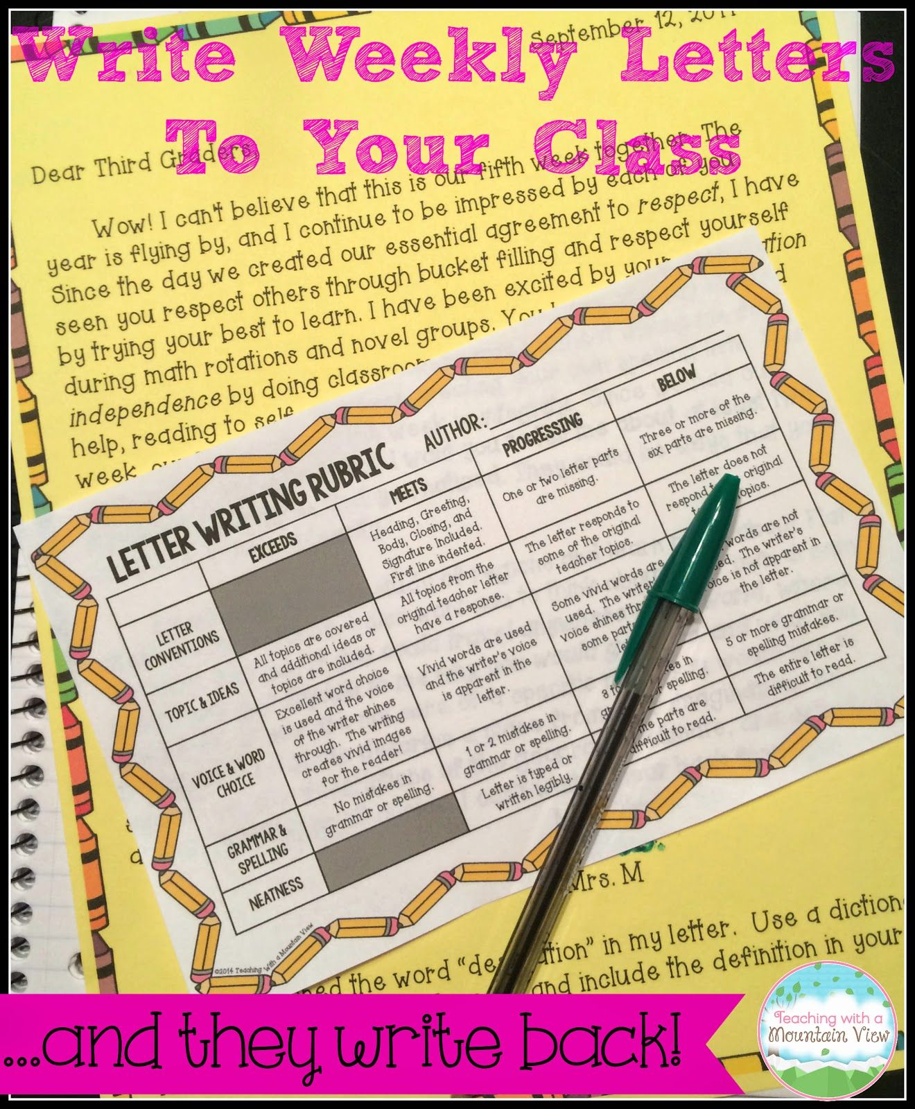 Using weekly letter writing in the classroom to reinforce writing using weekly letter writing in the classroom to reinforce writing skills and build community my spiritdancerdesigns Gallery