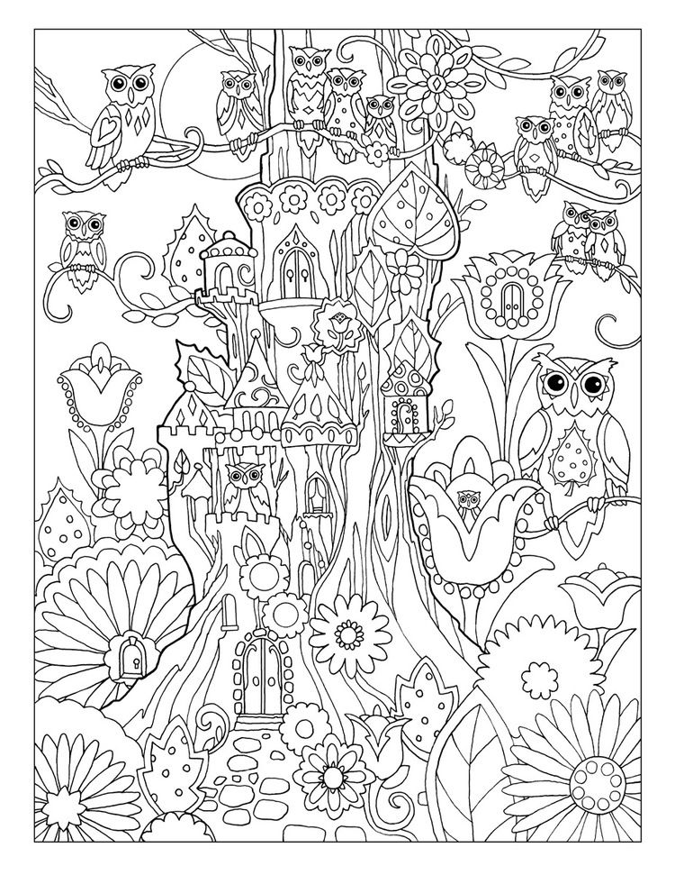 creative coloring pages printable - creative haven owls coloring book by marjorie sarnat