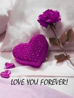 Love you forever purple rose & box of candy