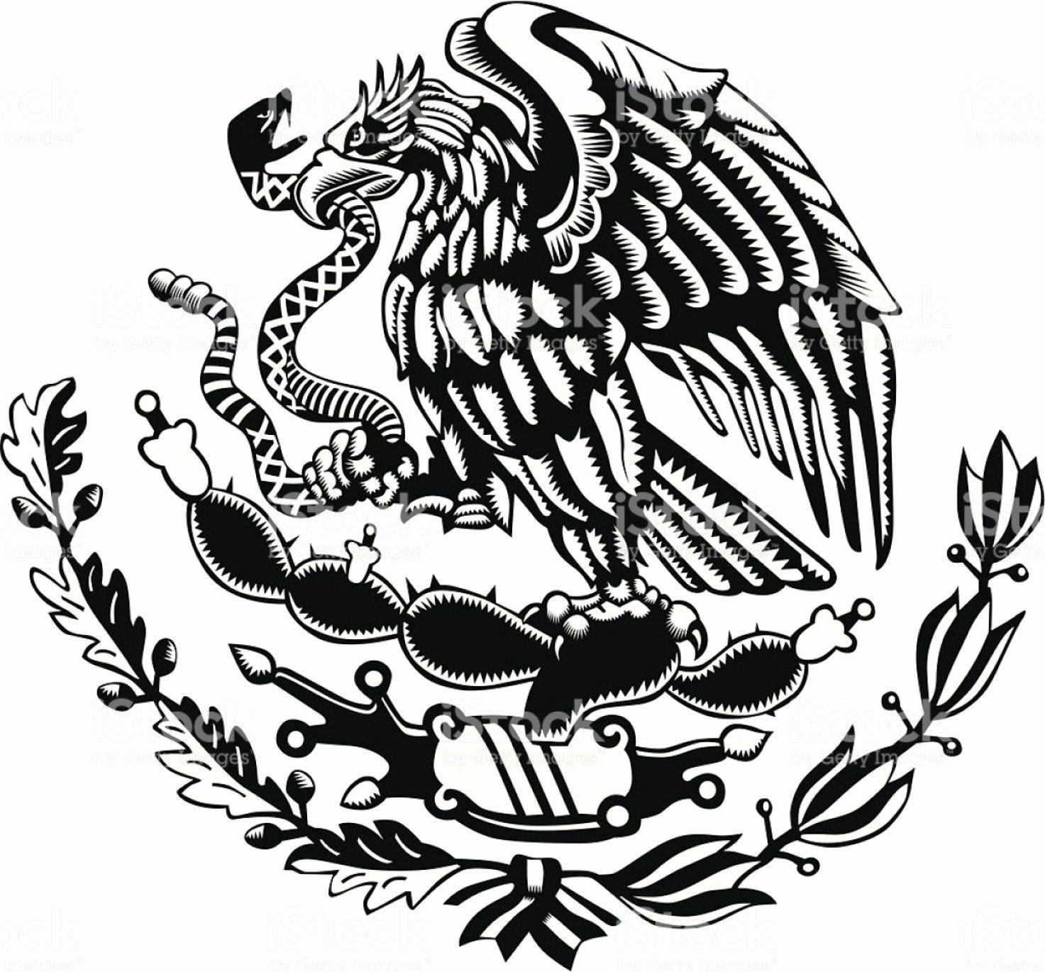 Mexican Flag Eagle Coloring Page Luxury Mexican Eagle Logo Vector In 2020 Mexican Tattoo Mexican Art Tattoos Aztec Tattoo