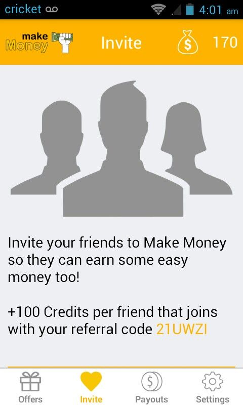 App Called Make Money Goal Is To Make Up To 50,000 & Get $50 Really Works Be Sure To Type In My Code So I Can Reach My Goal