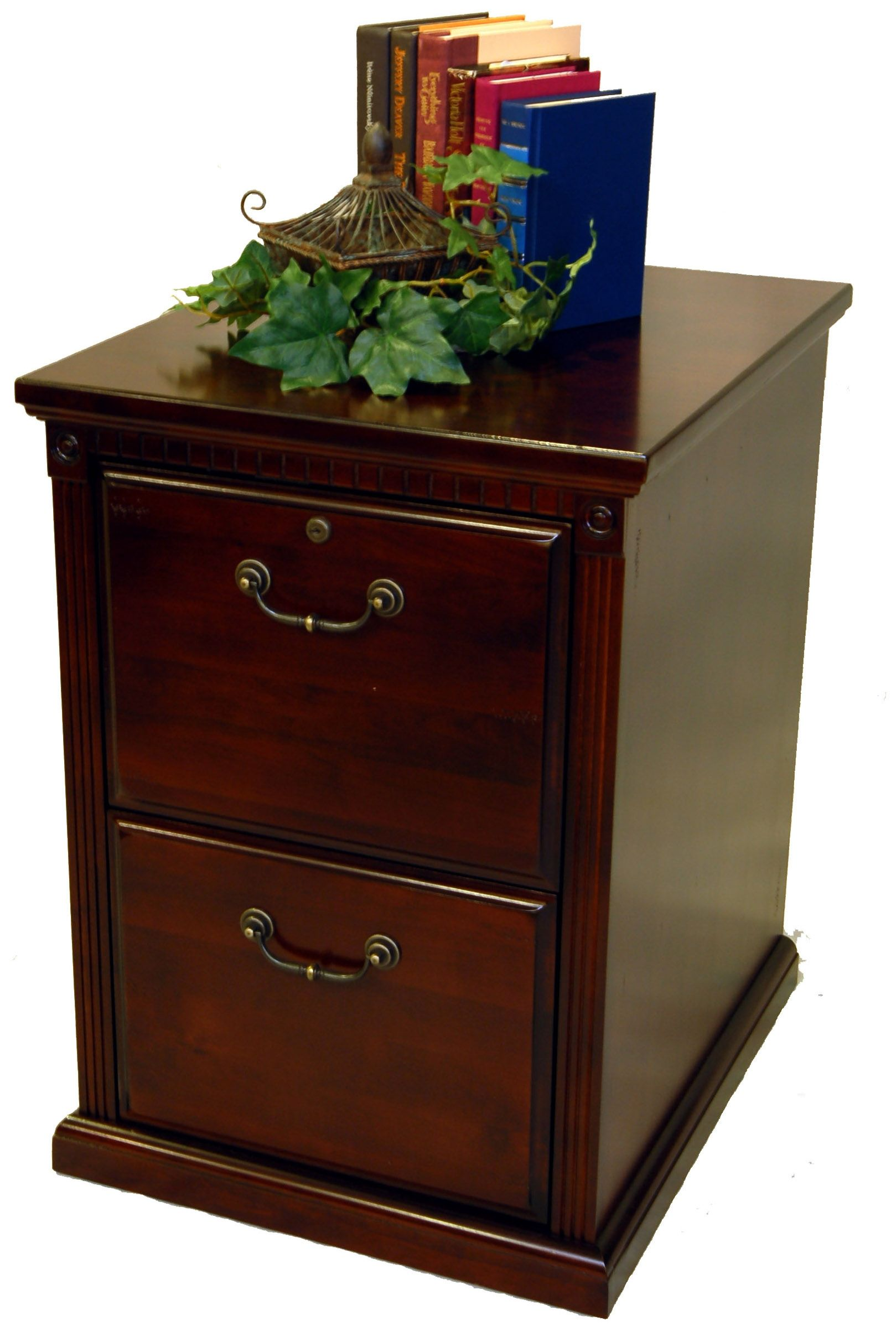 Two Drawer Cherry Wood Filing Cabinet Wood File Filing Cabinet