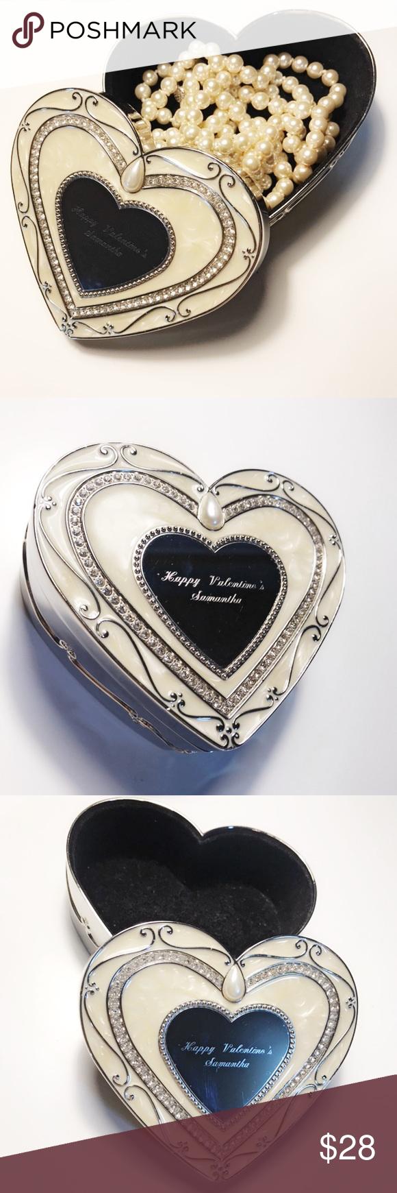 Things Remembered Elegance Keepsake Jewelry Box Heart shaped