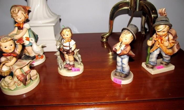 Good Collectible Figurines in this sale including these Hummel Figurines..early marks...full B, etc. Also Good Italian Figurines, Japanese Piano Babies, etc. which are pictured elsewhere in this collection