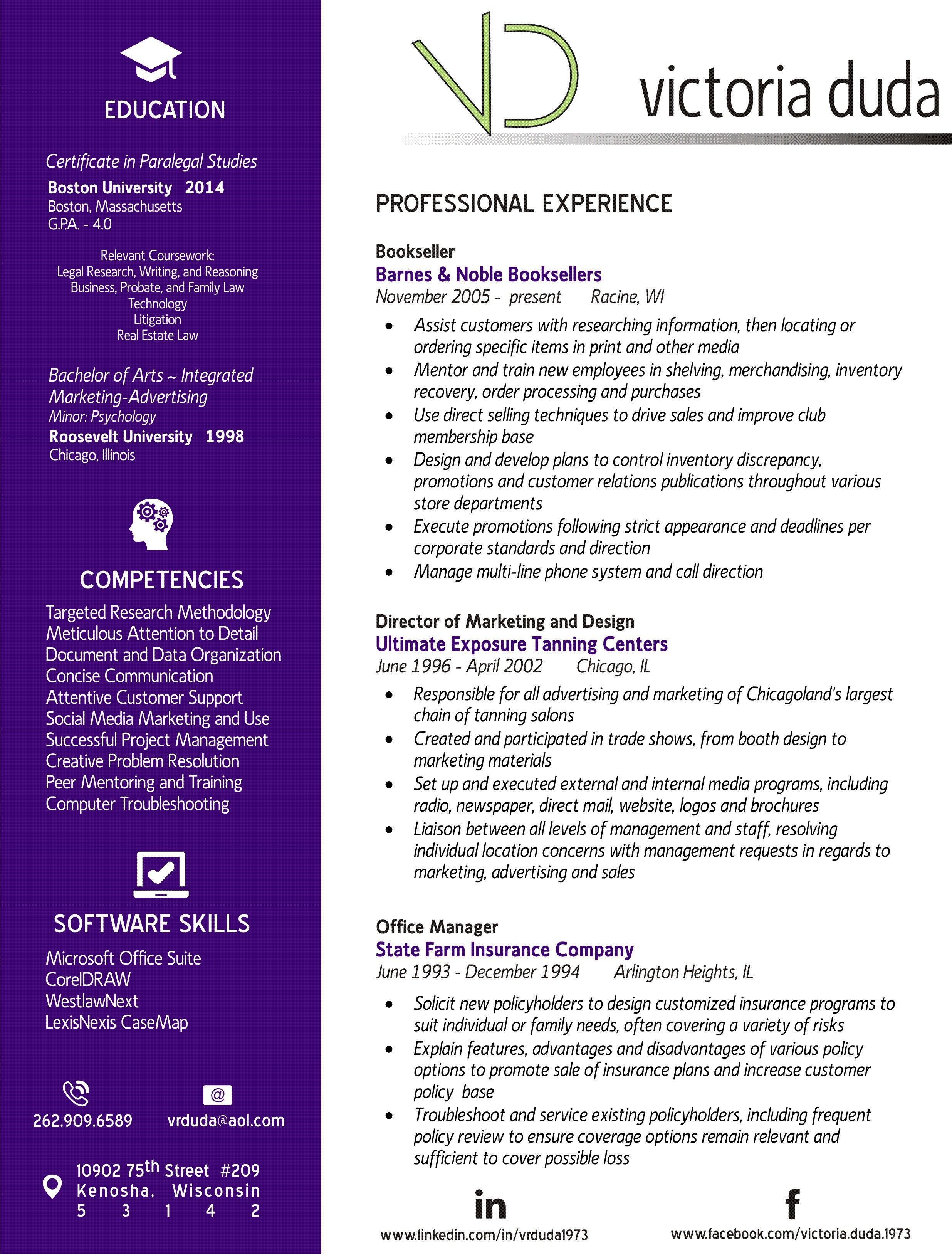 This Is My Custom Resume Created And Designed By Me Resume Paralegal Design Paralegal Resume Bachelor Of Arts