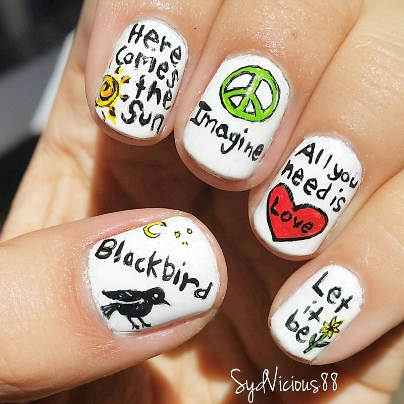 Songs of the beatles nail art by sydney nails pinterest songs of the beatles nail art by sydney prinsesfo Gallery