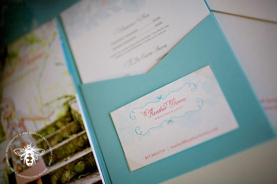 business card insert/pricing flyer pocket | packaging/branding ...