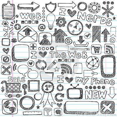 Sketchy Doodle Web Icon Computer Design Elements Doodle Icon Notebook Doodles Notebook Drawing
